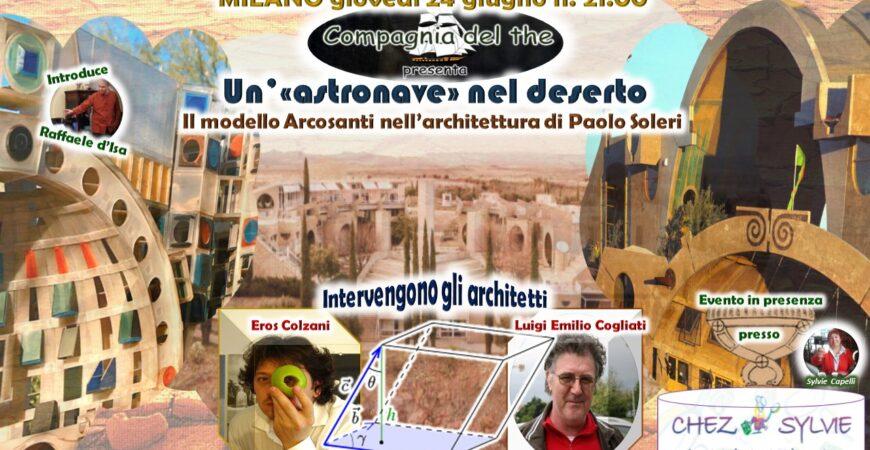 ARCOSANTI – giovedì 24 giugno ore 21.00 EVENTO CULTURALE IN PRESENZA CHEZ SYLVIE